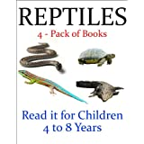 Reptiles -- 4 - Pack of Books (Read it book for Children 4 to 8 years)