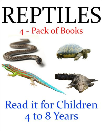 J.R. Whittaker - Reptiles -- 4 - Pack of Books (Read it book for Children 4 to 8 years)