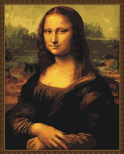 Diy oil painting, paint by number kit- worldwide famous painting Mona Lisa Smile by Leonardo Da Vinci 16*20