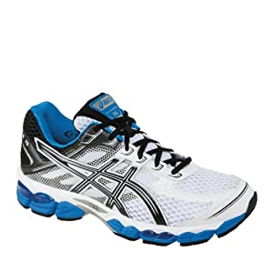 ASICS Men's GEL-Cumulus 15 Running Shoe,White/Black/Royal,7 2E US