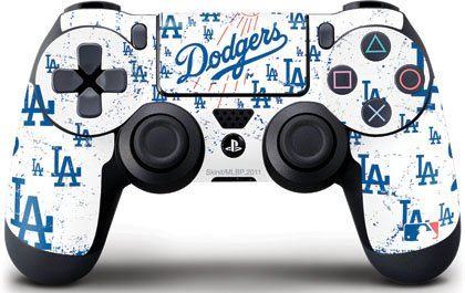 Mlb - Los Angeles Dodgers - Los Angeles Dodgers - White Primary Logo Blast - Skin For Sony Playstation 4 / Ps4 Dualshock4 Controller