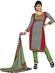 Lamiya Women's Unstitched Salwar Suit (FR7009_Multicolor_Free Size)