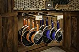Dual-ing Glideware Cookware Organizer with 14 Hooks by Glideware, LLC