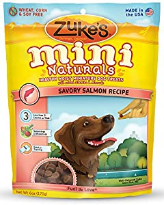 Zuke's Mini Naturals Dog Treats, Savory Salmon Recipe, 6-Ounce