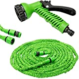 Krevia 50ft Longest And Strongest Flexible Expandable Magic Garden Hose And 7-pattern Spray Nozzle And Shut-off...