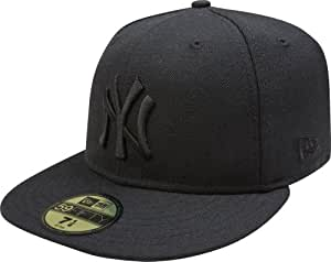 MLB New York Yankees Black on Black 59FIFTY Fitted Cap, 6 7/8