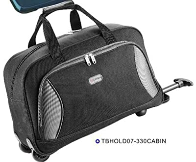 5 Cities Cabin Approved Super Lightweight Wheeled Luggage Bag (Black) - 'Right Size, Right Weight, Right Price!' - LuggageTravelBags