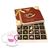 Ravishing Collection Of Dark And Milk Chocolate Box With Love Mug - Chocholik Belgium Chocolates