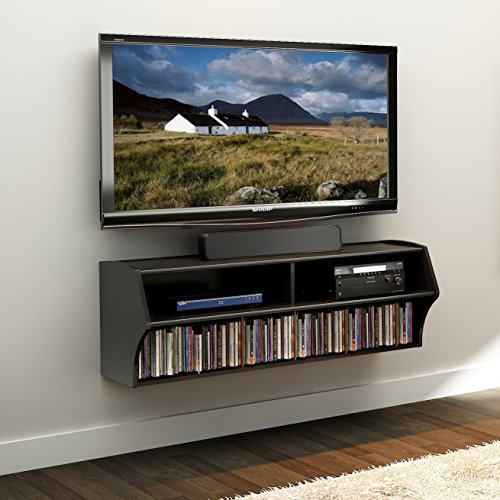 Prepac Altus Wall Mounted Audio/Video Tv Stand - Corner Flat Screen Plasma Televsion Stands Media Console Cabinet Tables