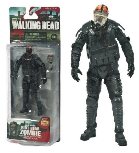 [The Walking Dead TV Series 4 Gas Mask Riot Gear Zombie AMC Figure by Happy Toys by Happy Toys] (Toy Gas Mask)