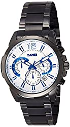 Skmei Analog White Dial Mens Watch - 9108SBW