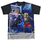 Black Back: Basketball Monkey Dunking On The Moon T-Shirt
