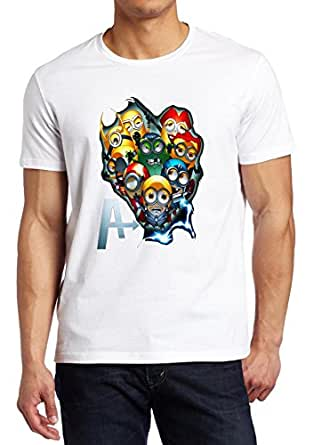 Minions Avengers Iron Man Hulk minion parody shirt Custom Fruit Of The Loom T-shirt