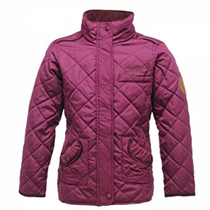 Regatta Girl's Giddyup Insulated Jacket - Black Currant, Size 9-10