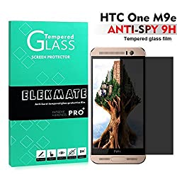 HTC One M9 Screen Protector Privacy, ELEKMATE Anti Spy Tempered Glass Screen Protector for HTC M9 [Retail Package]