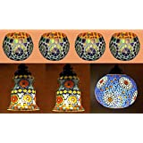 Pendant Ceiling Light & Lamp With Glass Candle Holder Tea Light Combo Set Of 7 Pcs