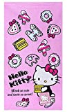 Di Grazia Hello Kitty Cotton Soft Absorption Face Hand Towel Handkerchief For Kids and Children - Pink