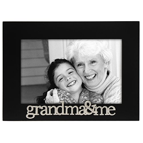 Malden International Designs Grandma and Me Expressions Picture Frame, 4x6, Black (Grandma Photo Frame compare prices)
