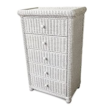 Wicker Paradise GA106 Elana Five Drawer Chest, Large