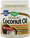 Nature's Way Organic Coconut Oil, Super Saver Value Pack 32 oz Pack of 4