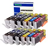 ink4work Set of 12 Pack PGI-250XL & CLI-251XL Compatible Ink Cartridge Set for Pixma IP7220, MG5420, MG6320, MX722, MX922