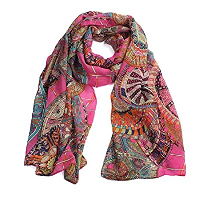 Bessky Women Fashion Women Girl Chiffon Printed Silk Long Soft Scarf