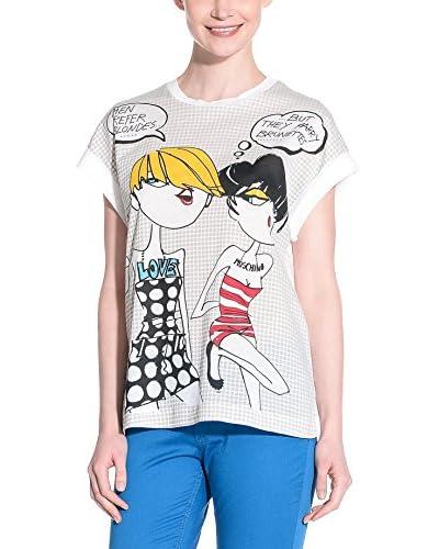 Love Moschino Camiseta Manga Corta Blanco