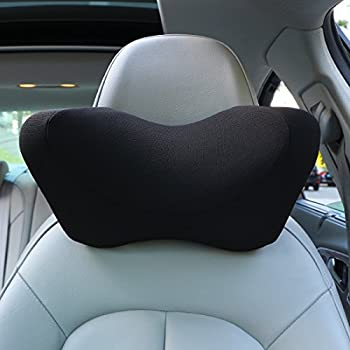Car headrest pillow, Car Neck Pillow Memory Foam With Adjustable,Car Seat Head Pillow for driving,neck pillow for car,car seat neck support (Black)