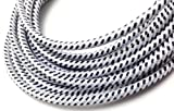 CablesFrLess 3ft Braided High Quality Durable Micro B 2.0 USB Charging / Data Sync Cable fits Android Windows phone Samsung Galaxy S5 and other micro USB 2.0 compatible devices (White)