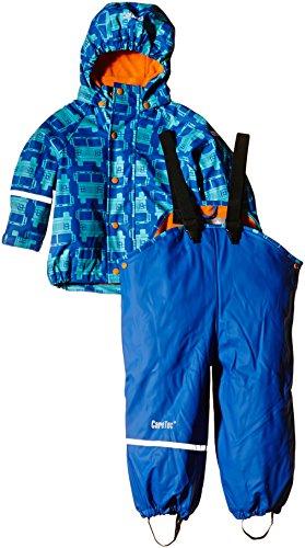 CareTec Jungen wasserdichte Regenlatzhose und -jacke im Set, Gr. 80, Blau (Sea Blue 706)