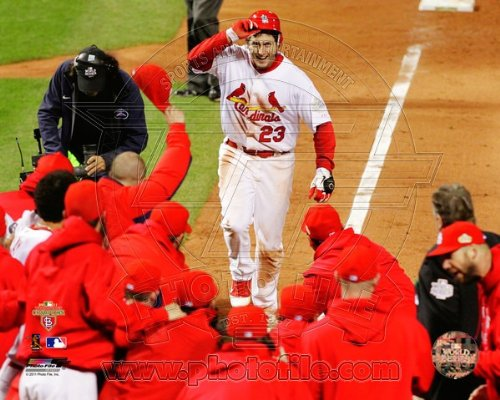 David Freese St. Louis Cardinals 2011 World Series Walk Off Home Run Celebration #3 at Amazon.com