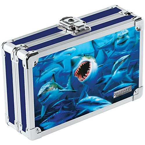 Vaultz 3D Lenticular Locking Pencil Box, 5.5 x 8.25 x 2.5 Inches, Sharks (VZ00292) (3d Box compare prices)