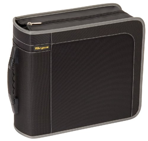 Targus CityGear 320 Capacity CD/DVD Album Case TDP019US (Black with Grey Contrasting)