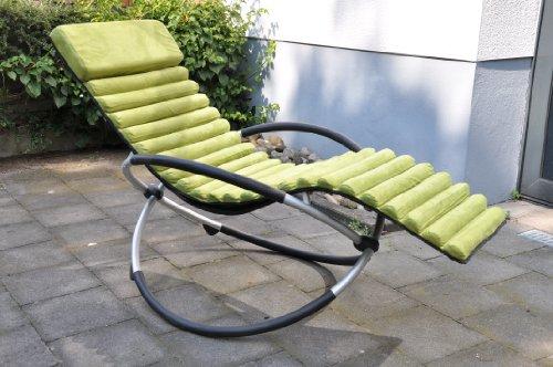 Leco 39398107 cuscino per sedia a dondolo 100 poliestere imbottito con gomma alveolare - Cuscino per sedia a dondolo ...