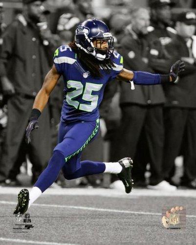 "Richard Sherman Seattle Seahawks 2013 NFL Spotlight Action Photo (Size: 8"" x 10"")"