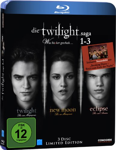 Twilight Saga 1-3: Was bis(s)her geschah (inkl. Sammelkarte) [Blu-ray] [Limited Edition]