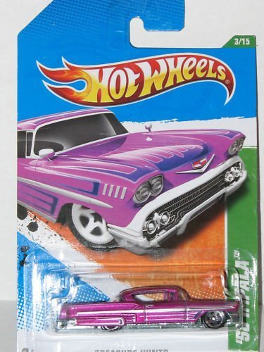 "Hot Wheels T Hunt ""Treasure Hunt"" 58 IMPALA 2011 3/15 #53/244 Magenta regular - 1"