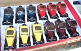 Kinsmart 1/34 Scale Diecast 1932 Ford 3-window Coupe Box of 12 Cars Three of Each Colors