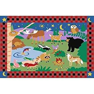 "Camp Fire Friends Kids Rug - Size 39"" x 58"""