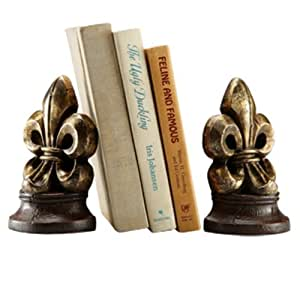 Fleur De Lis Bookends Home Office Desk Decor