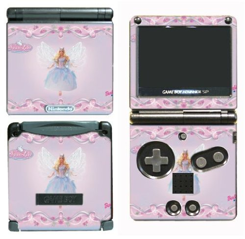 Barbie Doll Dress Up Game Vinyl Decal Skin Protector Cover #1 for Nintendo GBA SP Gameboy Advance