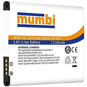 mumbi Batterie 2100 mAh pour Samsung Galaxy S4 Mini sans NFC