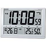 (セイコークロック) SEIKO CLOCK 電波壁掛け時計 置き時計兼用 SQ433S 六曜 日付 曜日 温度 湿度 銀色パール塗装 デジタル