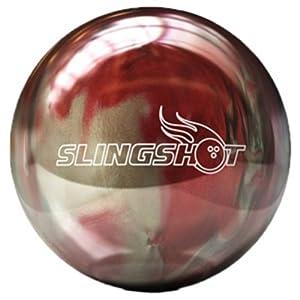 Brunswick Slingshot Pearl Bowling Ball (Red Silver, 16-Pounds) by Brunswick