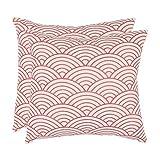 Safavieh Pillows Collection Dina Decorative Pillow, 18-Inch, Red, Set of 2