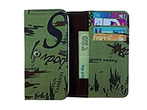 ATV Printed Pouch Case Flip Cover For Sony Xperia P