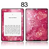 TaylorHe Vinyl Skin Decal for Amazon Kindle Paperwhite Ultra-slim protection for Kindle MADE IN BRITAIN FREE UK DELIVERY Design of Pink Hearts and Sparkles