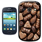 Fancy A Snuggle Delicious Chocolate Swirls Praline Fudge Design Hard Case Clip On Back Cover for Samsung Galaxy Fame S6810