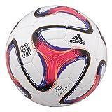 adidas 2014 MLS Glider Soccer Ball Size 5 (White, Orange, Purple)