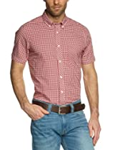 Ben Sherman Laundered Gingham Check Button Down Shirt (XL)